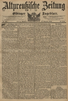 Altpreussische Zeitung, Nr. 272 Mittwoch 18 November 1896, 48. Jahrgang