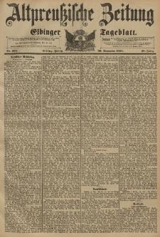 Altpreussische Zeitung, Nr. 273 Freitag 20 November 1896, 48. Jahrgang