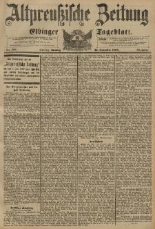 Altpreussische Zeitung, Nr. 275 Sonntag 22 November 1896, 48. Jahrgang