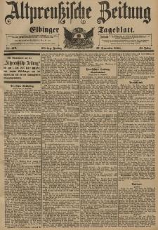 Altpreussische Zeitung, Nr. 279 Freitag 27 November 1896, 48. Jahrgang