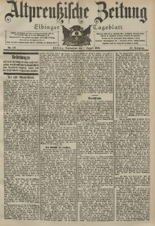 Altpreussische Zeitung, Nr. 178 Sonnabend 1 August 1903, 55. Jahrgang