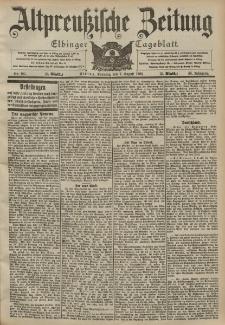 Altpreussische Zeitung, Nr. 185 Sonntag 9 August 1903, 55. Jahrgang