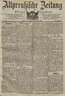 Altpreussische Zeitung, Nr. 186 Dienstag 11 August 1903, 55. Jahrgang