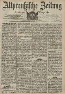 Altpreussische Zeitung, Nr. 192 Dienstag 18 August 1903, 55. Jahrgang