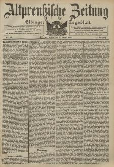 Altpreussische Zeitung, Nr. 195 Freitag 21 August 1903, 55. Jahrgang