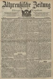 Altpreussische Zeitung, Nr. 219 Freitag 18 September 1903, 55. Jahrgang