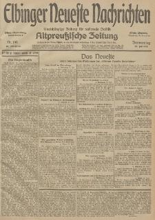 Elbinger Neueste Nachrichten, Nr. 199 Donnerstag 23 Juli 1914 66. Jahrgang