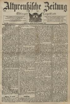 Altpreussische Zeitung, Nr. 225 Freitag 25 September 1903, 55. Jahrgang