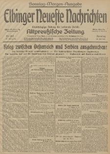 Elbinger Neueste Nachrichten, Nr. 202 Sonntag 26 Juli 1914 66. Jahrgang