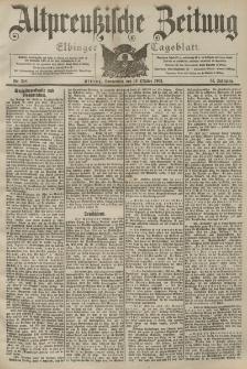 Altpreussische Zeitung, Nr. 238 Sonnabend 10 Oktober 1903, 55. Jahrgang