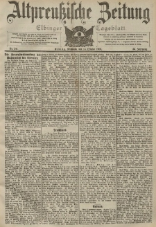 Altpreussische Zeitung, Nr. 241 Mittwoch 14 Oktober 1903, 55. Jahrgang