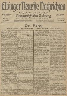 Elbinger Neueste Nachrichten, Nr. 206 Donnerstag 30 Juli 1914 66. Jahrgang