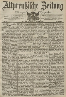 Altpreussische Zeitung, Nr. 242 Donnerstag 15 Oktober 1903, 55. Jahrgang