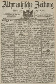 Altpreussische Zeitung, Nr. 244 Sonnabend 17 Oktober 1903, 55. Jahrgang