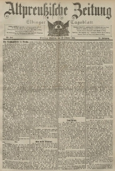 Altpreussische Zeitung, Nr. 246 Dienstag 20 Oktober 1903, 55. Jahrgang