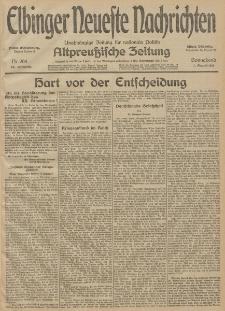 Elbinger Neueste Nachrichten, Nr. 208 Sonnabend 1 August 1914 66. Jahrgang