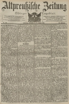 Altpreussische Zeitung, Nr. 247 Mittwoch 21 Oktober 1903, 55. Jahrgang