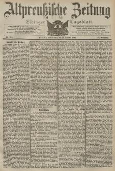 Altpreussische Zeitung, Nr. 248 Donnerstag 22 Oktober 1903, 55. Jahrgang