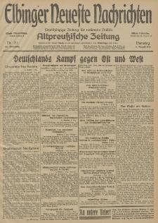 Elbinger Neueste Nachrichten, Nr. 211 Dienstag 4 August 1914 66. Jahrgang
