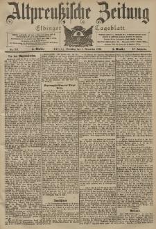 Altpreussische Zeitung, Nr. 257 Sonntag 1 November 1903, 55. Jahrgang