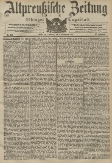 Altpreussische Zeitung, Nr. 258 Dienstag 3 November 1903, 55. Jahrgang