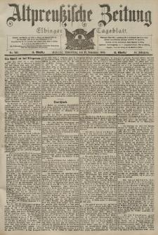 Altpreussische Zeitung, Nr. 266 Donnerstag 12 November 1903, 55. Jahrgang
