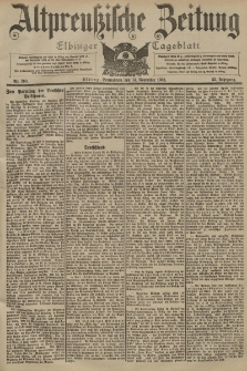 Altpreussische Zeitung, Nr. 268 Sonnabend 14 November 1903, 55. Jahrgang