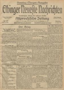 Elbinger Neueste Nachrichten, Nr. 216 Sonntag 9 August 1914 66. Jahrgang