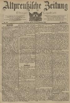 Altpreussische Zeitung, Nr. 272 Freitag 20 November 1903, 55. Jahrgang
