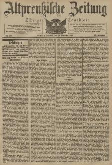 Altpreussische Zeitung, Nr. 276 Mittwoch 25 November 1903, 55. Jahrgang