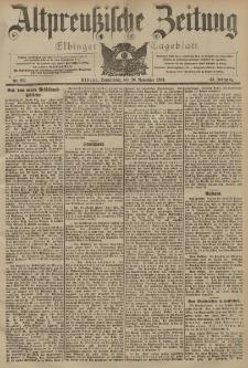 Altpreussische Zeitung, Nr. 277 Donnerstag 26 November 1903, 55. Jahrgang