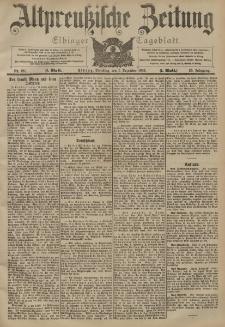 Altpreussische Zeitung, Nr. 281 Dienstag 1 Dezember 1903, 55. Jahrgang