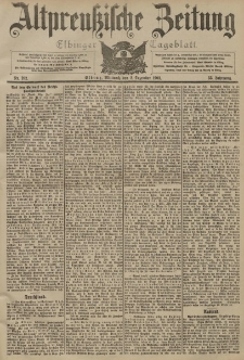 Altpreussische Zeitung, Nr. 282 Mittwoch 2 Dezember 1903, 55. Jahrgang