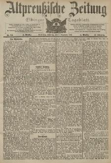 Altpreussische Zeitung, Nr. 286 Sonntag 6 Dezember 1903, 55. Jahrgang