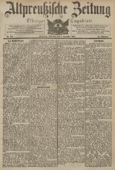 Altpreussische Zeitung, Nr. 287 Dienstag 8 Dezember 1903, 55. Jahrgang
