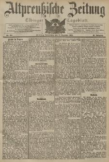 Altpreussische Zeitung, Nr. 289 Donnerstag 10 Dezember 1903, 55. Jahrgang