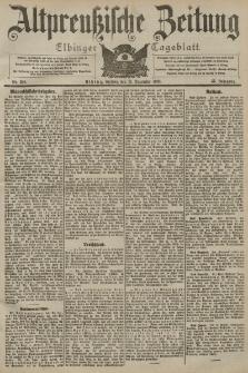 Altpreussische Zeitung, Nr. 290 Freitag 11 Dezember 1903, 55. Jahrgang