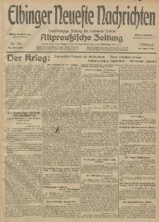 Elbinger Neueste Nachrichten, Nr. 226 Mittwoch 19 August 1914 66. Jahrgang
