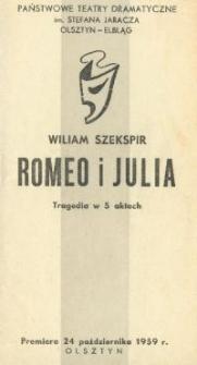 Romeo i Julia - program teatralny