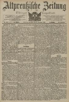 Altpreussische Zeitung, Nr. 299 Dienstag 22 Dezember 1903, 55. Jahrgang