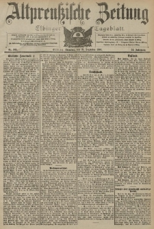 Altpreussische Zeitung, Nr. 303 Dienstag 29 Dezember 1903, 55. Jahrgang
