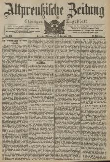 Altpreussische Zeitung, Nr. 304 Mittwoch 30 Dezember 1903, 55. Jahrgang