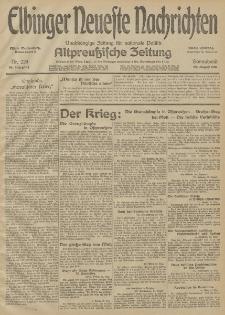Elbinger Neueste Nachrichten, Nr. 229 Sonnabend 22 August 1914 66. Jahrgang