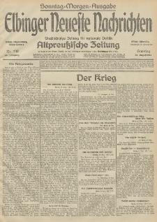 Elbinger Neueste Nachrichten, Nr. 230 Sonntag 23 August 1914 66. Jahrgang