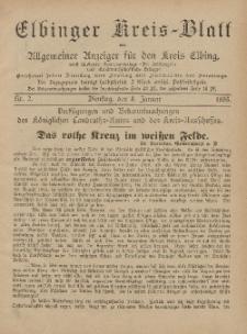 Kreis-Blatt des Königlich Preußischen Landraths-Amtes zu Elbing, Nr. 2 Dienstag 8 Januar 1895