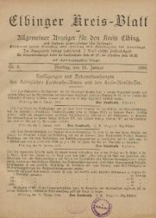 Kreis-Blatt des Königlich Preußischen Landraths-Amtes zu Elbing, Nr. 4 Dienstag 15 Januar 1895