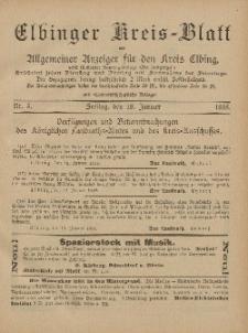 Kreis-Blatt des Königlich Preußischen Landraths-Amtes zu Elbing, Nr. 5 Freitag 18 Januar 1895