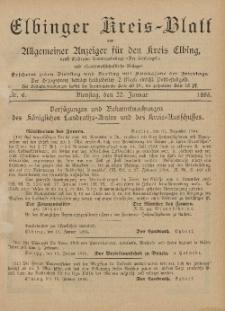 Kreis-Blatt des Königlich Preußischen Landraths-Amtes zu Elbing, Nr. 6 Dienstag 22 Januar 1895