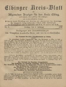 Kreis-Blatt des Königlich Preußischen Landraths-Amtes zu Elbing, Nr. 9 Freitag 1 Februar 1895