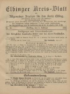 Kreis-Blatt des Königlich Preußischen Landraths-Amtes zu Elbing, Nr. 10 Dienstag 5 Februar 1895